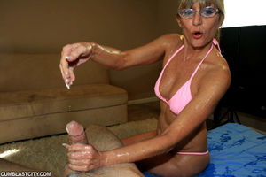hot mature handjob